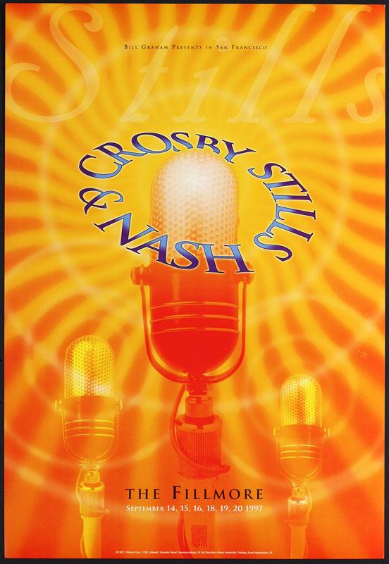 Crosby Stills & Nash New Fillmore Poster F285