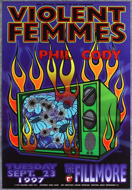 Violent Femmes New Fillmore Poster F291