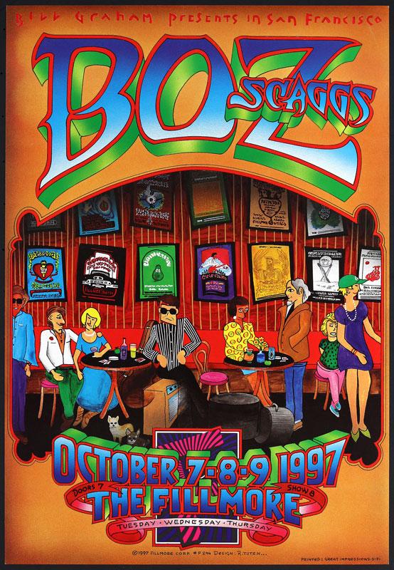 Boz Scaggs New Fillmore Poster F294
