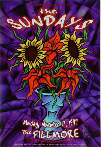 The Sundays New Fillmore Poster F301