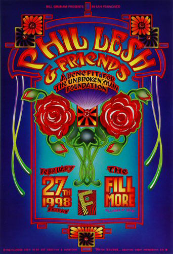 Phil Lesh And Friends Benefit For The Unbroken Chain Foundation New Fillmore Poster F317