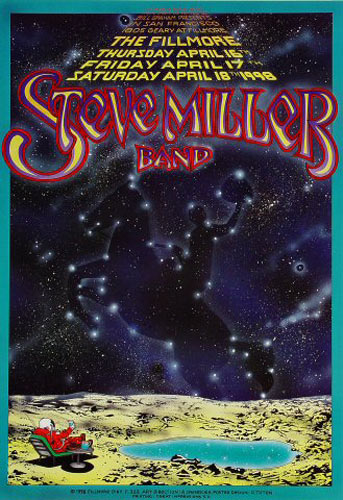 The Steve Miller Band  New Fillmore Poster F323