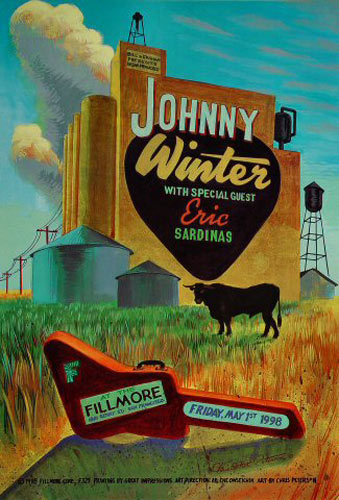 Johnny Winter  New Fillmore Poster F325
