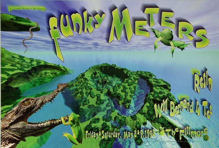 The Funky Meters  New Fillmore F327 Poster