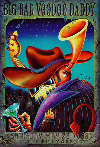 Big Bad Voodoo Daddy New Fillmore F329 Poster