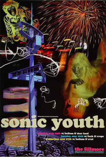 Sonic Youth  New Fillmore Poster F330