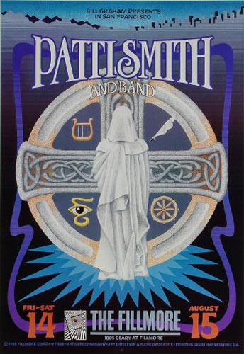 Patti Smith New Fillmore Poster F338
