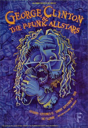 George Clinton & The P-Funk All Stars New Fillmore Poster F340