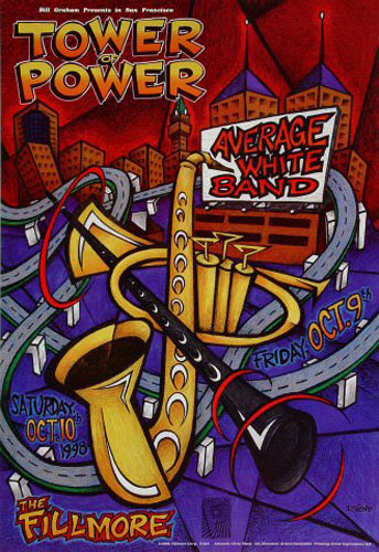 Tower of Power New Fillmore Poster F343