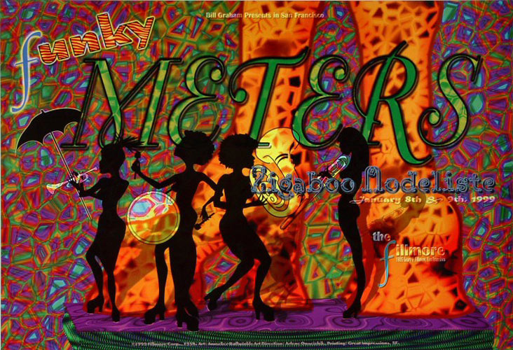 Funky Meters New Fillmore F358 Poster
