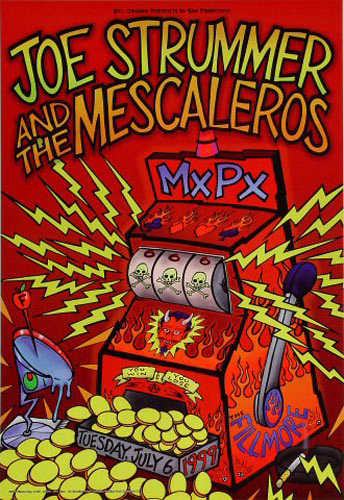 Joe Strummer & The Mescaleros New Fillmore Poster F377