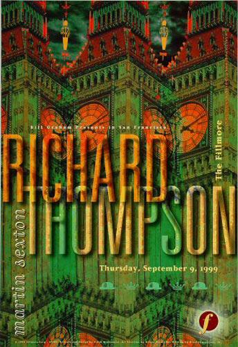 Richard Thompson New Fillmore F382 Poster