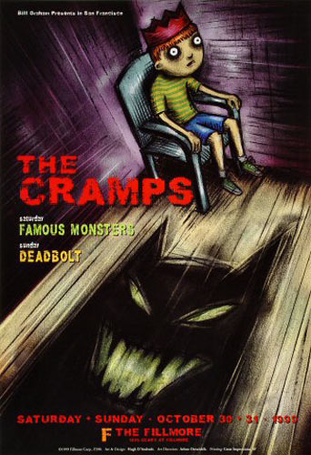The Cramps 1999 Fillmore F390 Poster