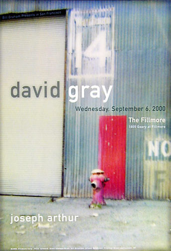 David Gray New Fillmore Poster F416