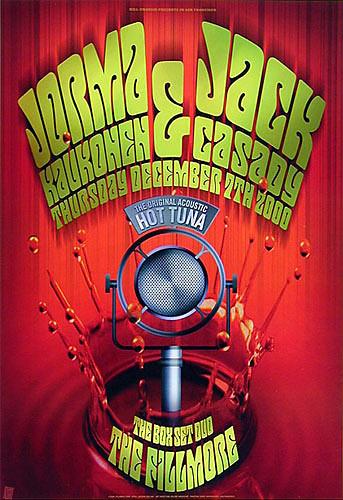 Jorma Kaukonen & Jack Cassidy New Fillmore Poster F431