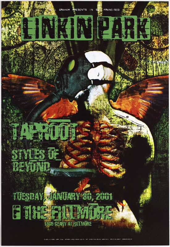 Linkin Park New Fillmore Poster F436