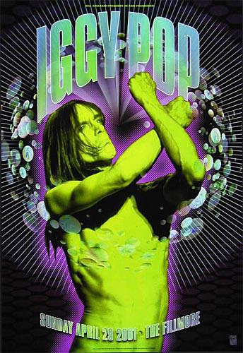 Iggy Pop New Fillmore Poster F457