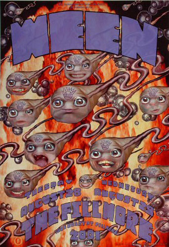 Ween  2001 Fillmore F479 Poster