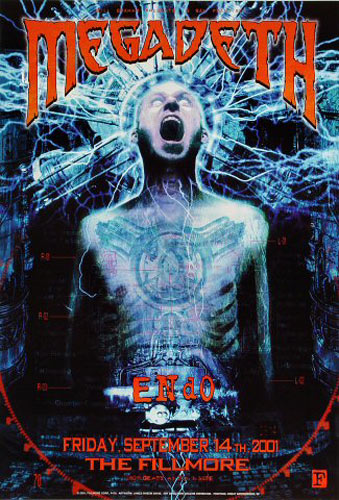 Megadeth New Fillmore F479a Poster