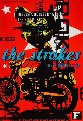 The Strokes New Fillmore Poster F483