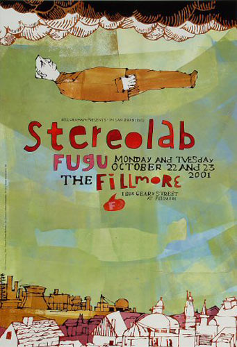Stereolab New Fillmore Poster F484