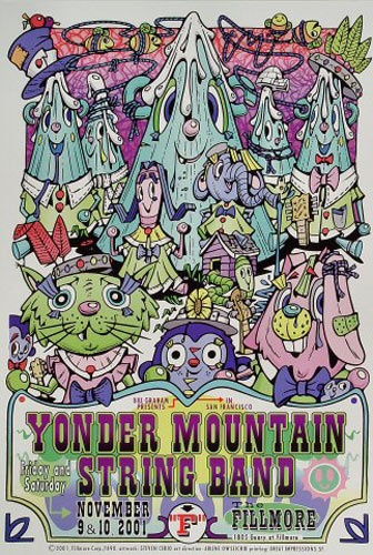 Yonder Mountain String Band New Fillmore Poster F490