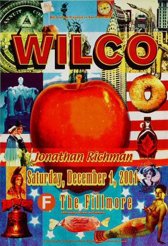 Wilco 2001 Fillmore F497 Poster