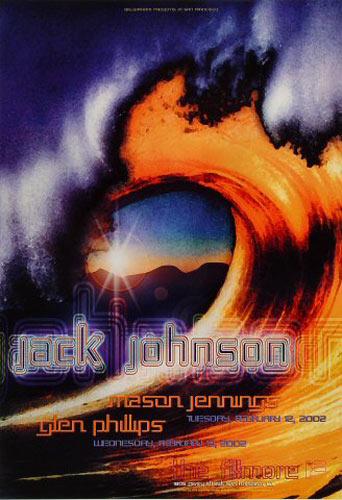 Jack Johnson New Fillmore Poster F510