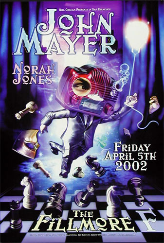 John Mayer New Fillmore F516 Poster