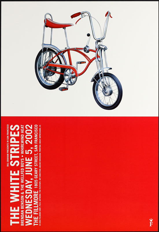The White Stripes New Fillmore Poster F523