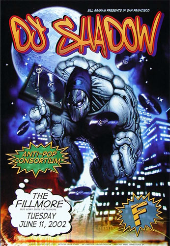 DJ. Shadow New Fillmore Poster F525
