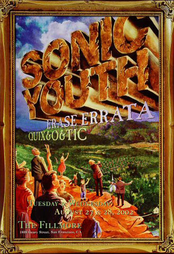 Sonic Youth New Fillmore Poster F533