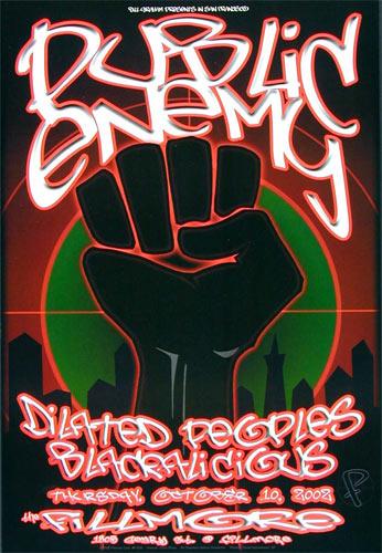Public Enemy New Fillmore Poster F539