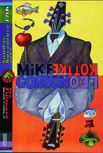 Mike Gordon Leo Kottke 2002 Fillmore F545 Poster