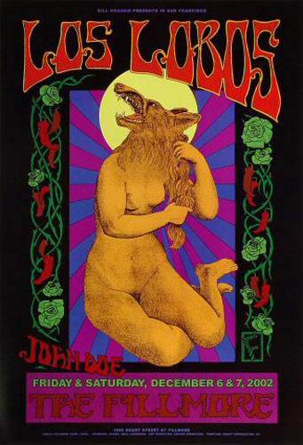 Los Lobos New Fillmore Poster F548