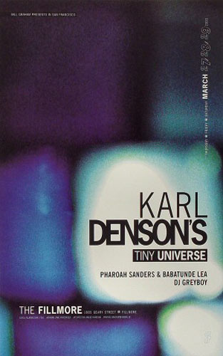 Karl Denson's Tiny Universe New Fillmore F562 Poster