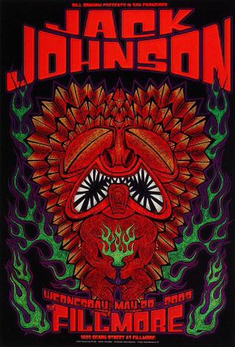 Jack Johnson New Fillmore Poster F568