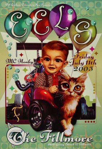 Eels New Fillmore Poster F575