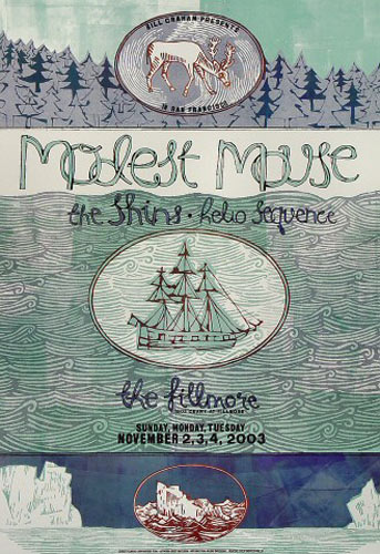Modest Mouse New Fillmore F594 Poster