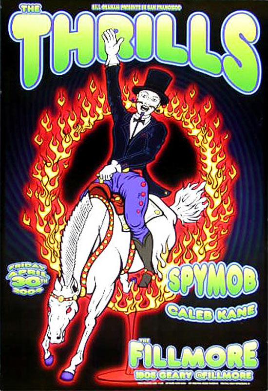 Thrills New Fillmore Poster F615