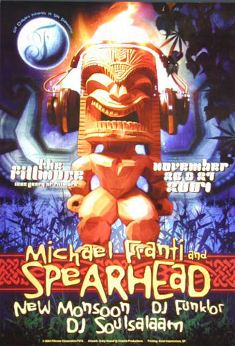 Michael Franti and Spearhead New Fillmore Poster F672
