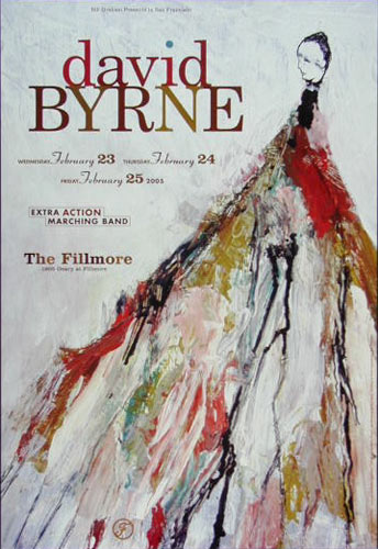 David Byrne New Fillmore Poster F680
