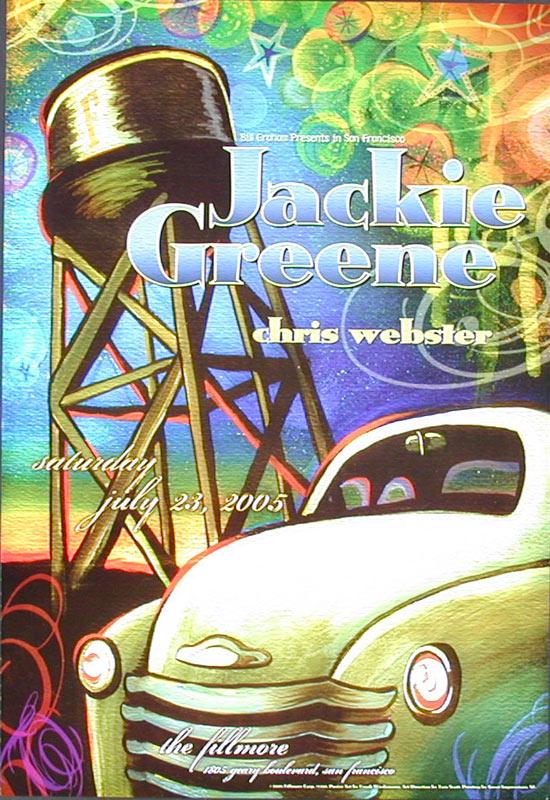 Jackie Greene 2005 Fillmore F701 Poster