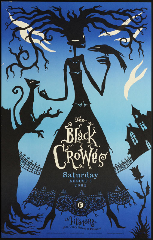 The Black Crowes 2005 Fillmore F705 Poster