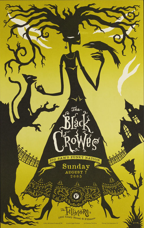 The Black Crowes 2005 Fillmore F706 Poster