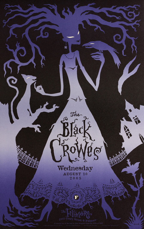 The Black Crowes 2005 Fillmore F708 Poster