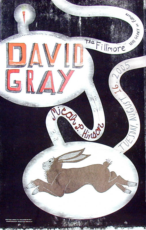 David Gray New Fillmore Poster F710