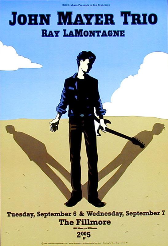 John Mayer Trio New Fillmore F713 Poster