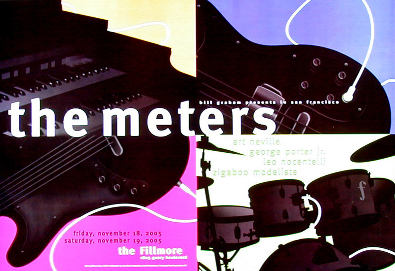 The Meters 2005 Fillmore F732 Poster