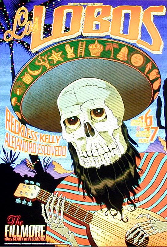 Los Lobos 2005 Fillmore F744 Poster
